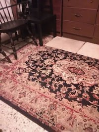 Black and red beige floral area rug Pensacola, 32506