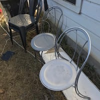 4 old school chairs both American made steel Austin, 78745