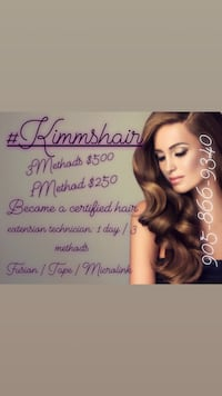 3 method 1 day Hair Extension Technician Certification course Toronto
