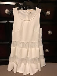 Just me white dress size medium Calgary, T3J 5G8