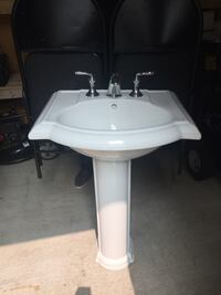 White ceramic sink with faucet Whitby, L1N 2J2