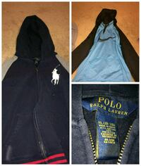 blue POLO by RALPH LAUREN zip-up hooded jacket collage Corpus Christi, 78411