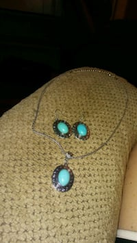 Oval turquoise jewelry set  Greeneville, 37743