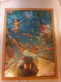 Vintage Ikea Swimming Ladies Framed poster Hamilton
