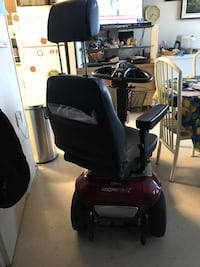 Black and red shoprider mobility scooter