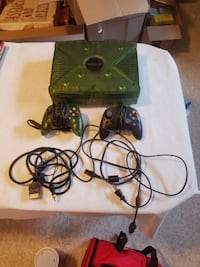 Xbox console with controller and game case SILVERSPRING