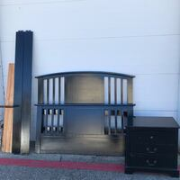 Queen size wood bed & 1 Night stand $150 All Irving, 75061