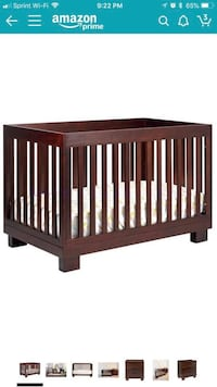 Babyletto Modo 3-in-1 Convertible Crib with Toddler Bed Conversion Kit, Espresso Henderson, 89044