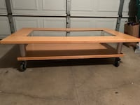 Coffee Table features casters Eden Prairie, 55344