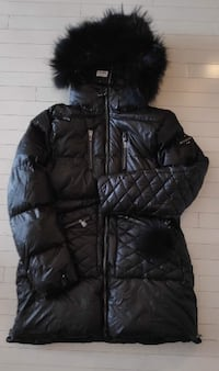 Brand new, Real fur+ Real fur Pom Pom keychain winter coat, size:XL for sale in Plateau Montreal  Montréal, H2W 1L8