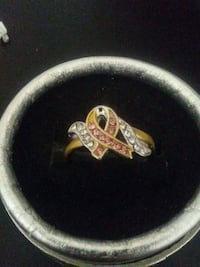 Breast Cancer Awareness Ring size 9 3149 km
