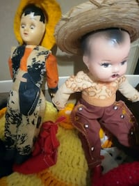 Vintage antique and hand crafted dolls