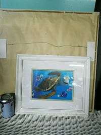 Finding Nemo turtle character photo with white wooden frame Long Beach, 39560
