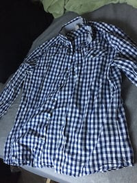 Kenneth Cole Blue and white plaid dress shirt Albany, 12203