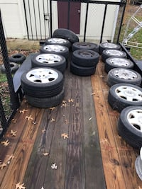 Lots of tires and wheels Green, 44312