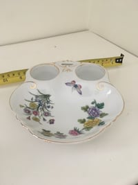 Vintage unique fine bone China serving dish