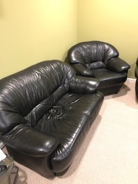 Black leather couch set Sterling, 20165