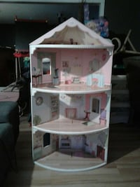 white and pink wooden doll house Barrie, L4M 5S2
