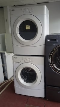 white front-load clothes washer and dryer set MONTREAL