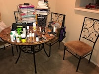 Brown wooden table with chairs Shreveport