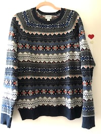 black, white, and red knit sweater East Gwillimbury, L0G 1R0