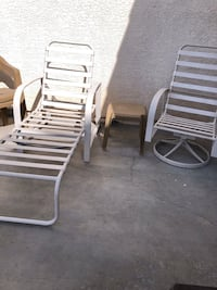 2 Aluminum/plastic lawn chairs and one table  Las Vegas del Norte, 89081