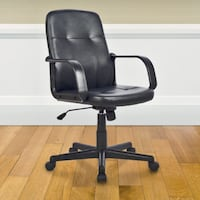 *Brand New* CORLIVING Black Leatherette Office Desk Chair Mississauga