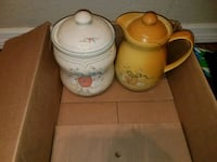 two yellow and white ceramic pot and pitcher Jacksonville, 32218