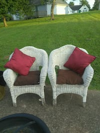 White wicker chairs Ringgold, 30736