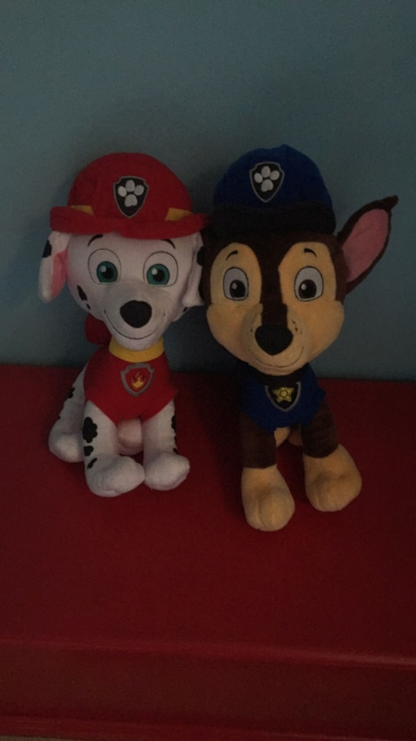 Large Paw Patrol Plush Marshall Chase Usati In Vendita A Roswell