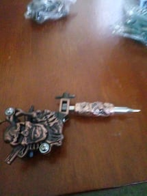 Copper and stainless steel tattoo machine with tub