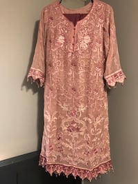 women's pink floral long-sleeved dress Calgary, T3J 2W5