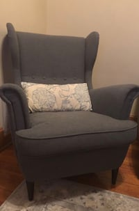 gray and black fabric sofa chair Chicago, 60622