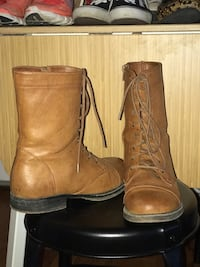 Material Girl brown lace up boots