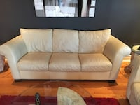 white leather 3-seat sofa Chambly, J3L