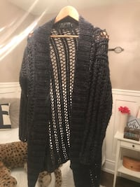 black and gray knit cardigan Toronto, M9C 3Z4