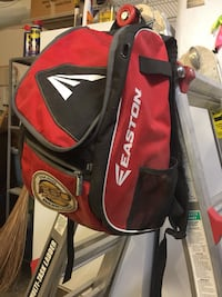 red and black Easton backpack