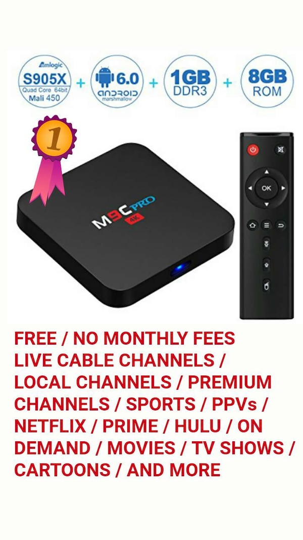 SMART TV BOX  NO MONTHLY FEES  CUT THE CORD SAVE $