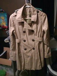 brown button-up coat Springfield, 22150
