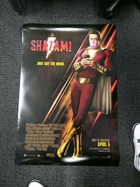 DC Shazam! Movie film poster Toronto, M6A 2T9