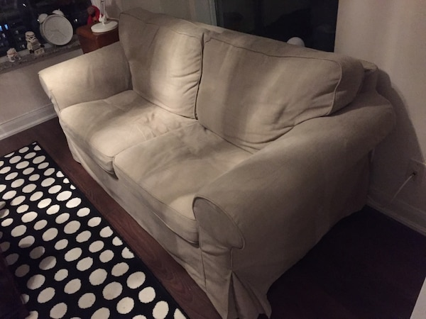 Used Ikea Ektorp Loveseat Sofa Beige Colour For Sale In Toronto