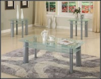 Glass white coffee table Temple Hills