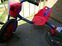 blue and red Razor Spider-Man Rip Rider 360 caster trike Bakersfield, 93301