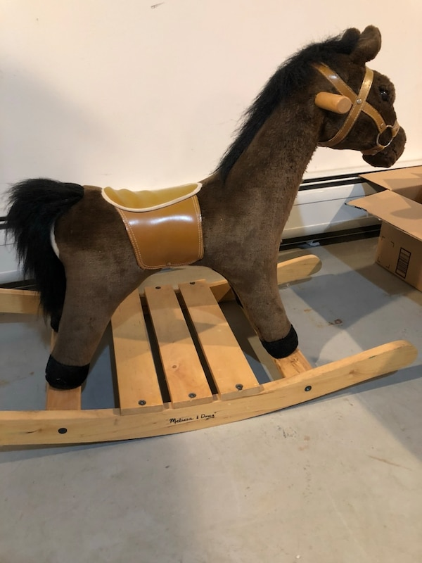 Melissa And Doug Brown And Black Rocking Horse Excellent Condition And Makes Noises