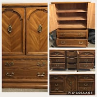 Solid Wood Dresser & Armoire