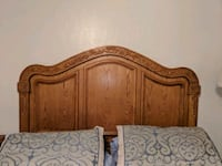 brown wooden bed headboard and footboard Gilbert
