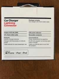 Car Charger For All Apple Products. New in unopened package. Frederick, 21703