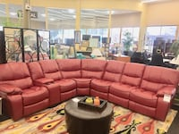 Brand New Red Leather Reclining Sectional  Norfolk, 23502