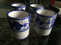 Four hand painted italian tea cups. no chips or cracks. Toronto, M6G 2L6
