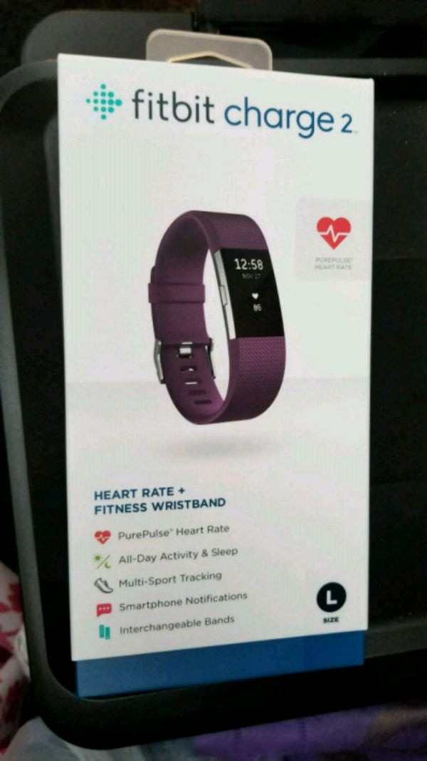 New Fitbit charge 2 purple/plum  dd52955a-b4b9-4d25-9141-e0da95fc7ffc